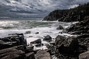 Lubec Prints - Storm at Gullivers Hole Print by Marty Saccone