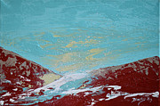 Snow Storm Paintings - Storm At Red Rock Ridge by Donna Blackhall