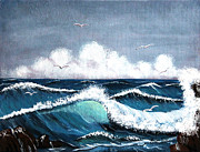 Fog At Sea Prints - Storm at Sea Print by Barbara Griffin