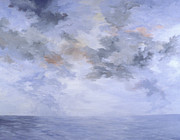 Storm Prints Painting Prints - Storm at Sea Print by Elaine Oehmich