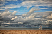 Cloud Formations Prints - Storm Beach Print by Karol  Livote