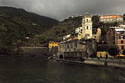 Structure Originals - Storm Brewing at Vernazza by William Fields