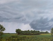 Storm Clouds Paintings - Storm Brewing by Michelle Moroz-Chymy