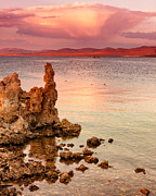 Mono Color Posters - Storm Clouds and Tufa Mono Lake CA Poster by Troy Montemayor