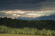 Smoky Mountains Posters - Storm Clouds at Cades Cove Poster by Andrew Soundarajan