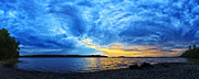Downeast Maine Prints - Storm Clouds at Sunset 1 Print by ABeautifulSky  Photography