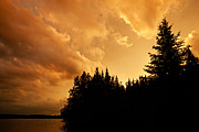 Bwcaw Metal Prints - Storm Clouds at Sunset Metal Print by Larry Ricker