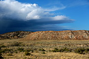 Storm Clouds Posters - Storm Clouds over Central Wyoming Poster by Carol Groenen