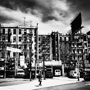 Tenements Prints - Storm Clouds over Chinatown - New York City Print by Vivienne Gucwa