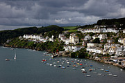 Port Town Framed Prints - Storm Clouds over Fowey Framed Print by James Brunker
