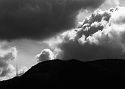 Mountains Digital Art Prints - Storm Clouds Over Griffith Park Print by Ron Regalado
