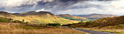Mountain Road Photo Prints - Storm clouds over the Glen Print by Jane Rix
