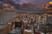 Seattle Prints - Storm Clouds Rolling In Print by Mike Reid