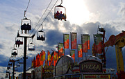 State Fair Photo Prints - Storm Clouds Print by Skip Willits