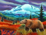 Bear Art Paintings - Storm Coming by Harriet Peck Taylor