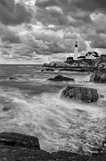 Ocean Black And White Prints Prints - Storm Coming Print by Jon Glaser