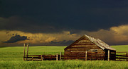 Thunderstorms Prints - Storm Crossing Prairie 2 Print by Robert Frederick
