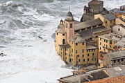 Flooding Photos - Storm in camogli by Antonio Scarpi