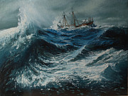 Storm In The Sea Print by Shobita Sreekumar