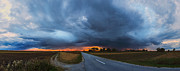 Country Road Prints - Storm is coming Print by Davorin Mance