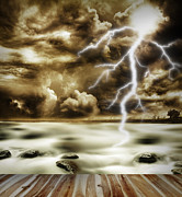 Thunderstorm Framed Prints - Storm Framed Print by Les Cunliffe
