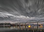 Storm Moving In Over Chattanooga Print by Steven Llorca