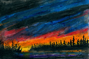 Canadian Geese Paintings - Storm Moving Out by R Kyllo