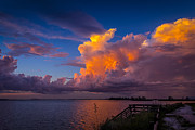 Tampa Skyline Photos - Storm on Tampa by Marvin Spates