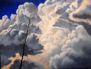 Storm Clouds Paintings - Storm on the Hoback by Lori Salisbury