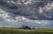 Barn Storm Prints - Storm Over Barn Print by Steve Triplett