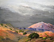 Park Scene Paintings - Storm Over Capital Reef by James S Bagley
