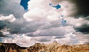 Heading Out West Prints - Storm Over Desert Quarry Print by Belinda Lee