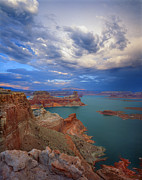 Ledge Framed Prints - Storm over Lake Powell Framed Print by Ray Mathis