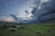 Ominous Sky Posters - Storm over Lamar Valley - Yellowstone Poster by Matt Tilghman
