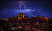 Sedona Framed Prints - Storm Over Sedona AZ Framed Print by Robert Albrecht