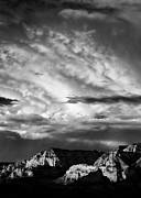 Dave Bowman Photography Posters - Storm over Sedona Poster by David Bowman