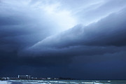 Storm Prints Photo Metal Prints - Storm Over Siesta Key - Beach Art By Sharon Cummings Metal Print by Sharon Cummings