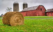 Tennessee Barn Prints - Storm Over the Farm Print by Douglas Barnett