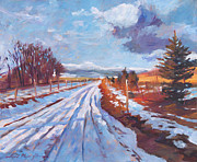 Country Painting Originals - Storm Passing by David Lloyd Glover