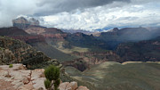 South Kaibab Trail Photos - Storm Playing by Charles Ables