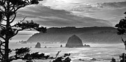 Haystack Rock Framed Prints - Storm Rolling In Framed Print by Andrew Soundarajan