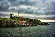 Nubble Lighthouse Prints - Storm Rolling In Print by Heather Applegate
