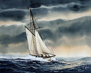 Neptune Painting Prints - Storm Sailing Print by James Williamson