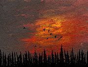 Canadian Geese Mixed Media - Storm Sense by R Kyllo