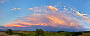 James BO  Insogna - Storm Sunset Moon Longmont to Boulder CO Panorama C
