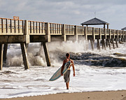 Surf Lifestyle Photos - Storm Surfer by Laura  Fasulo