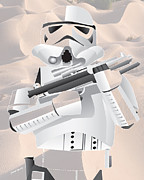 Trooper Prints - Storm Trooper Print by Cheryl Young