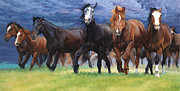 Saddle Paintings - Storm warning by Michelle Grant