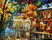 Building Painting Originals - Storming Night by Leonid Afremov