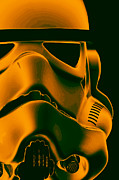 Science Fiction Prints - Stormtrooper Helmet 10 Print by Micah May